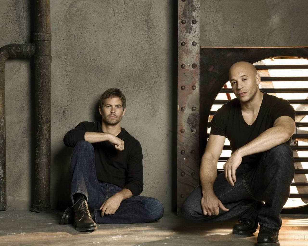 Paul Walker y Vin Diesel - 1280x1024