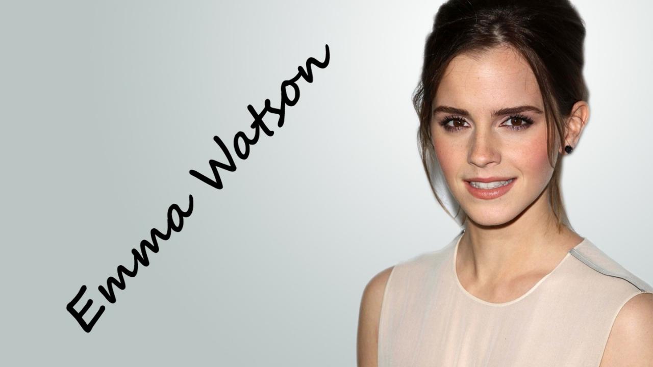 Peinado de Emma Watson - 1280x720