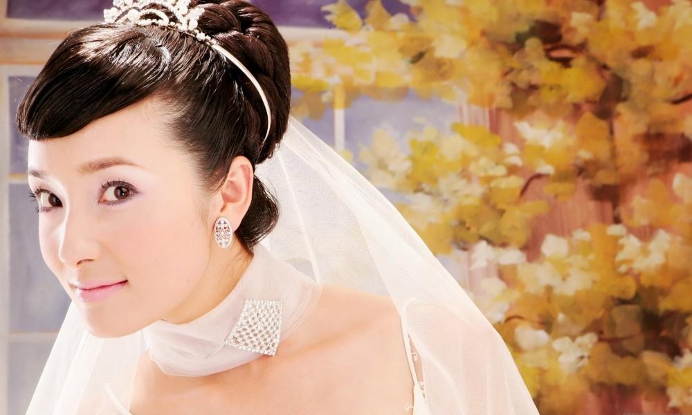 Peinado de novia asiática - 1000x600