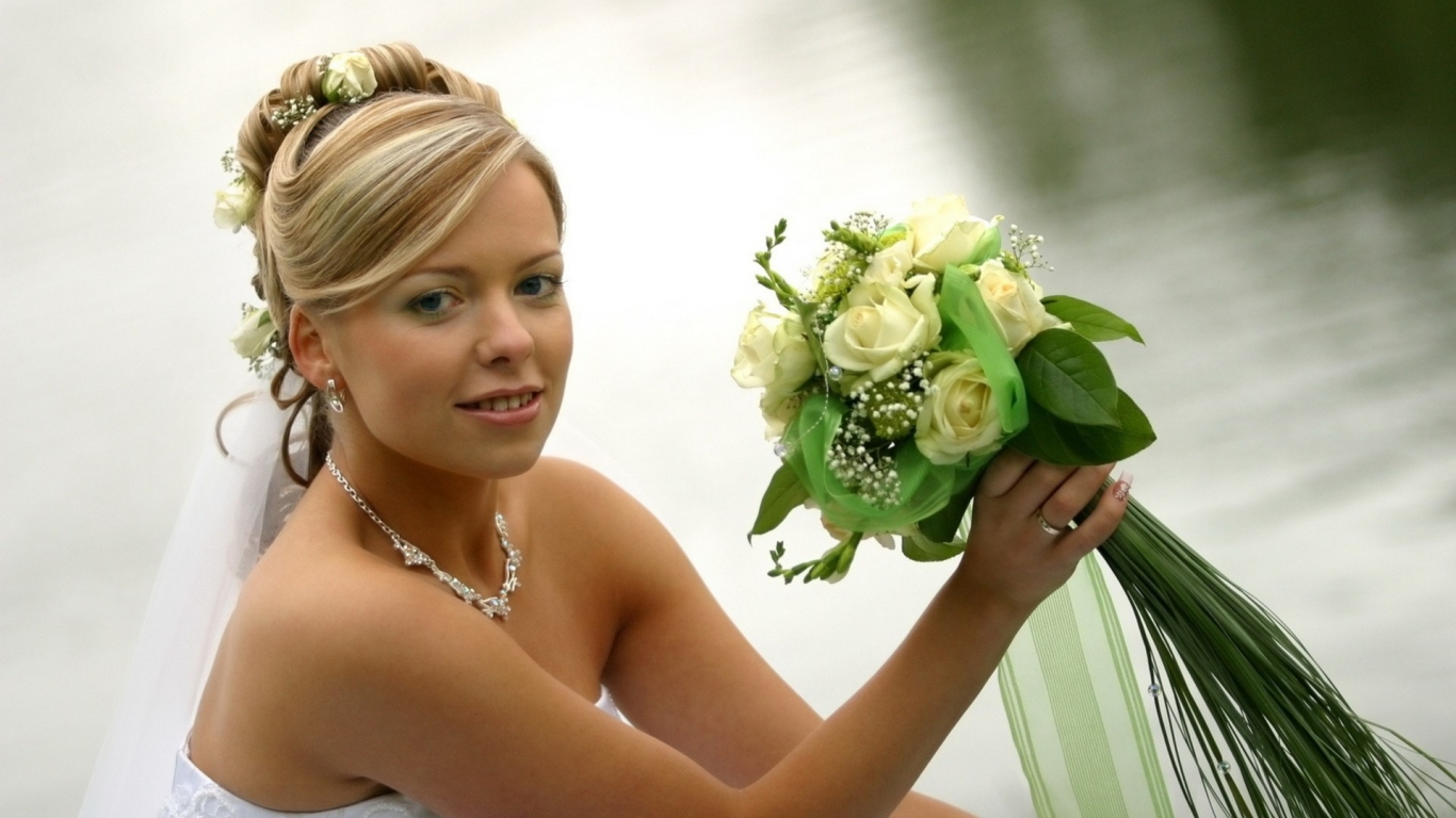 Peinado de novia - 1366x768