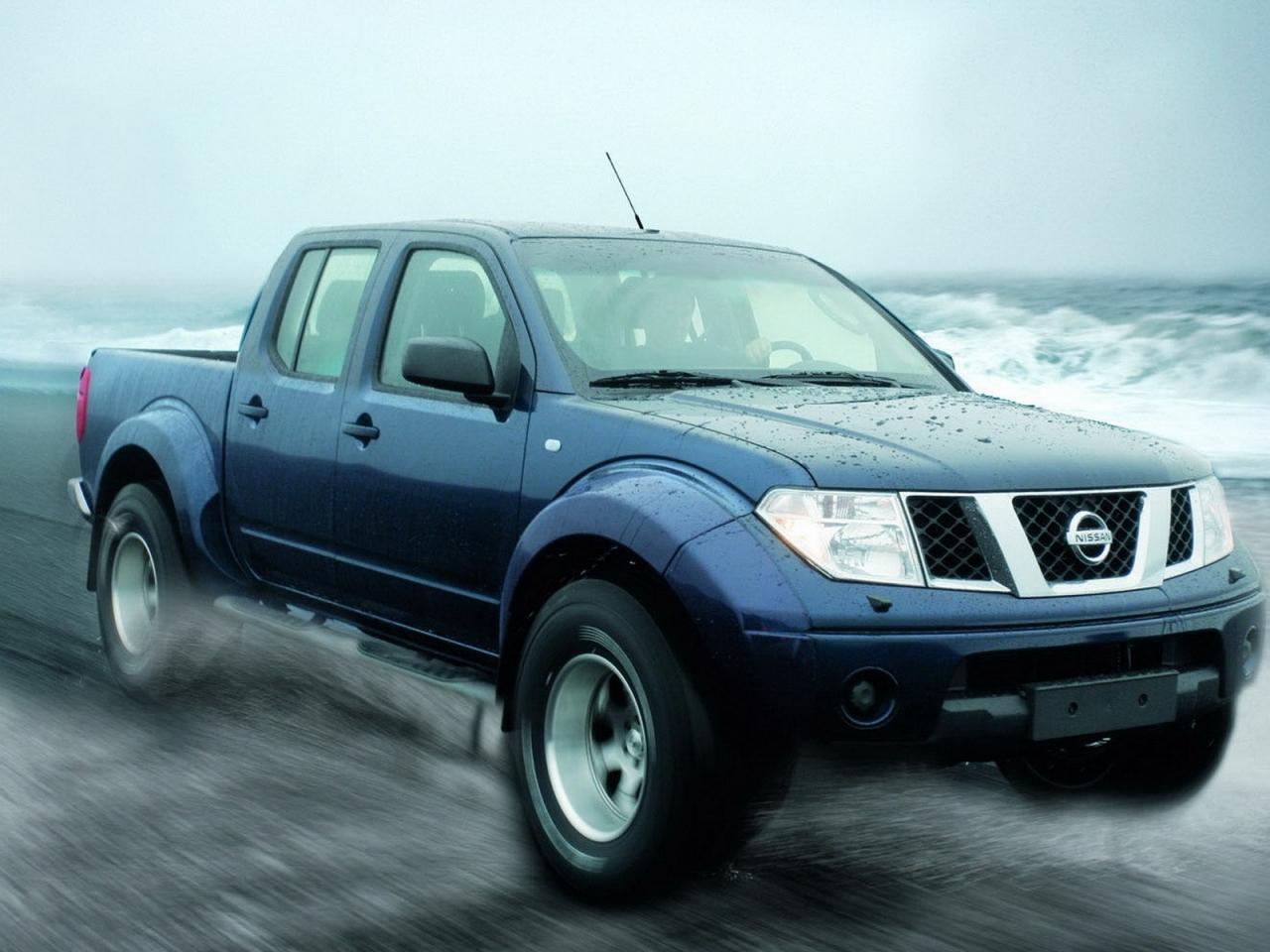 Pickup Nissan azul - 1280x960