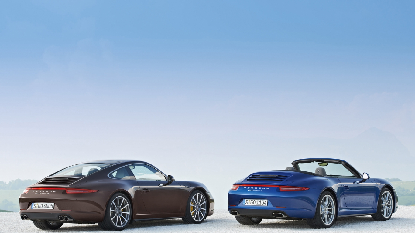 Fondos De Pantalla Vehículo Porsche Show De Net: Porsche 911 Carrera 4-4S Hd 1366x768