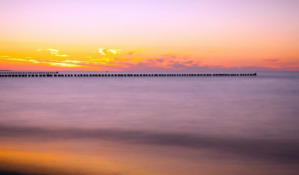 Puesta de sol en el mar - 1024x600