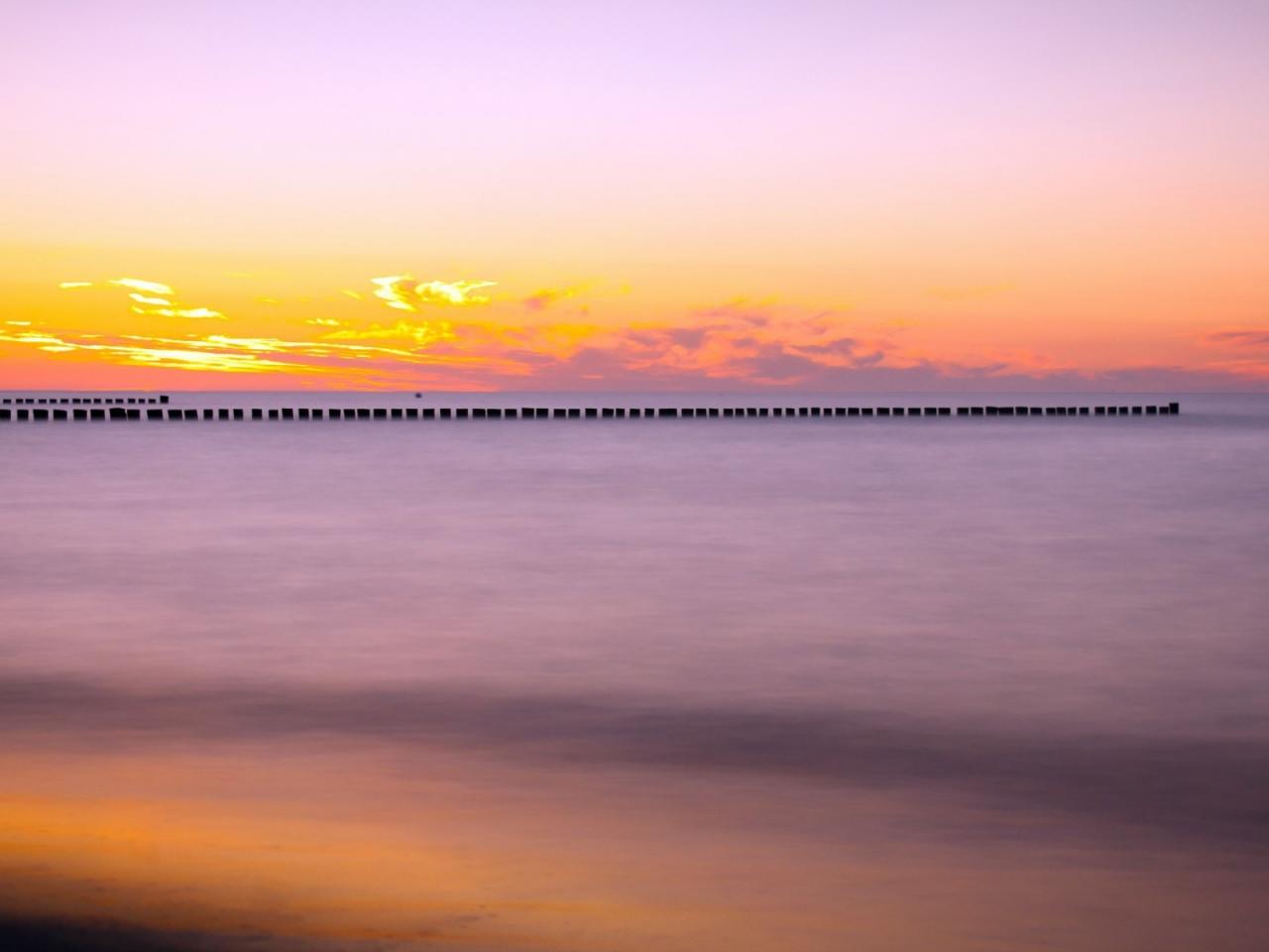Puesta de sol en el mar - 1280x960