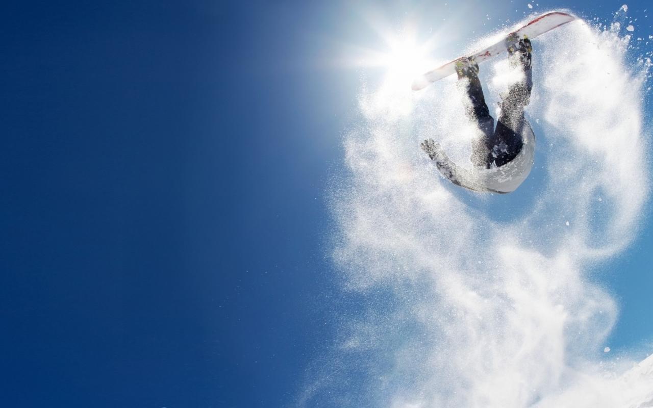 Salto sobre las nieves - 1280x800