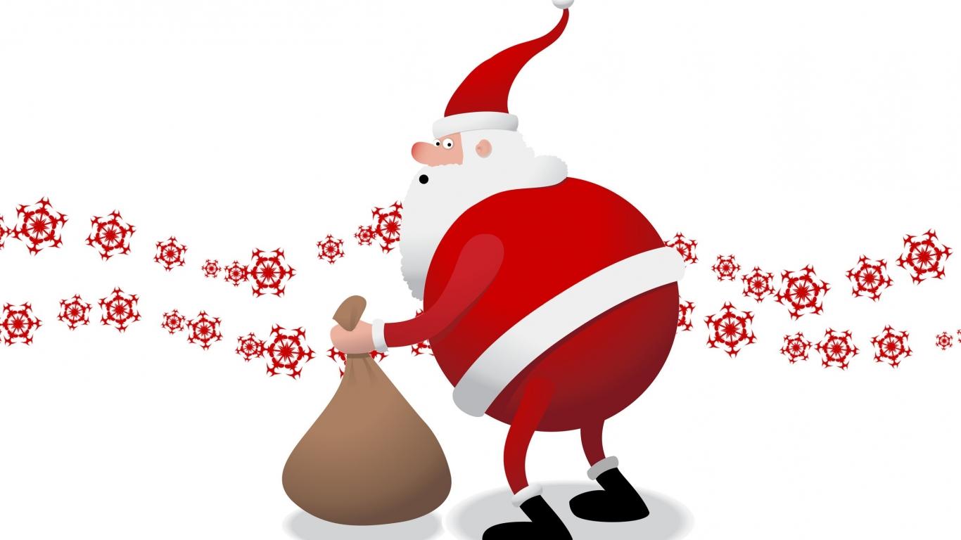 Santa Claus el gordo - 1366x768