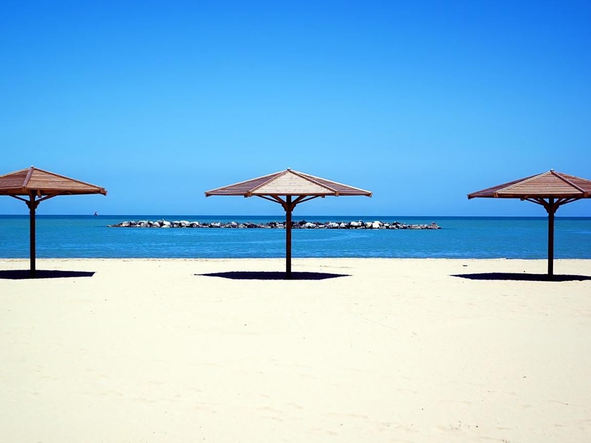 Sombrillas de playa hd 1152x864 imagenes wallpapers - Sombrilla playa ...