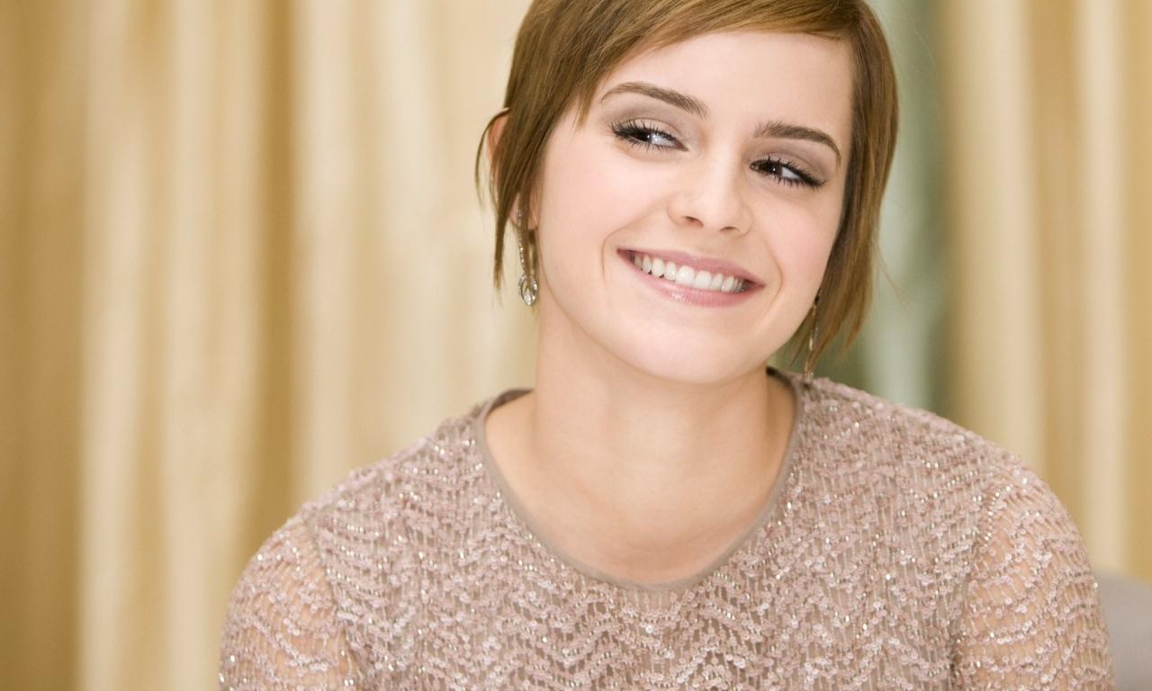 Sonrisa de Emma Watson - 1280x768