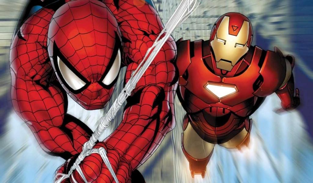 Spiderman y Ironman - 1024x600