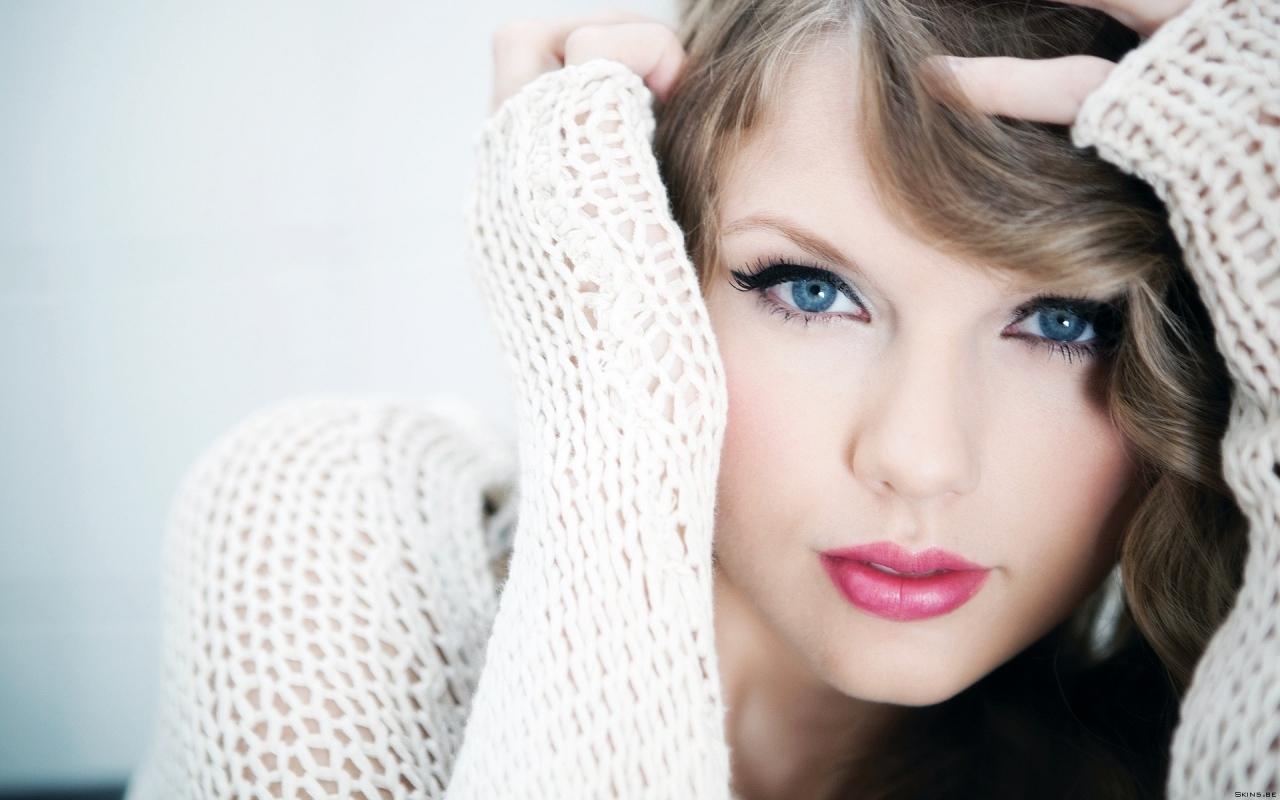 Taylor Swift y sus ojos - 1280x800