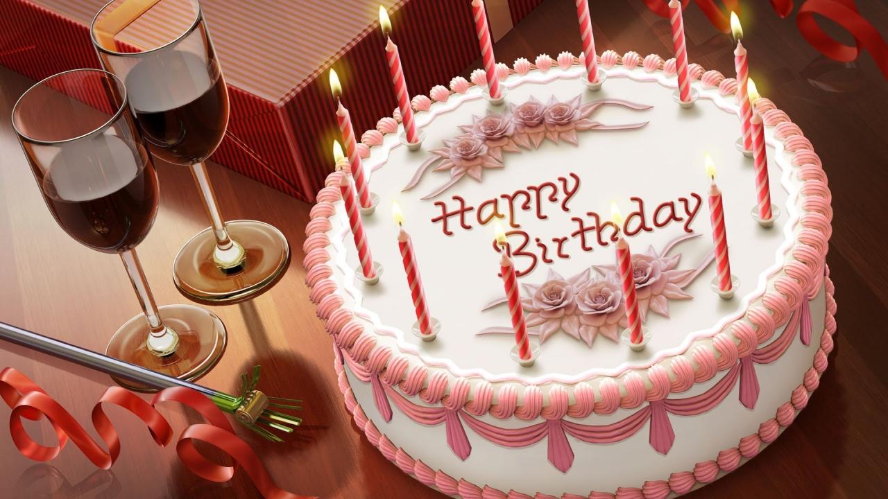 Tortas de cumpleaños - 1280x720
