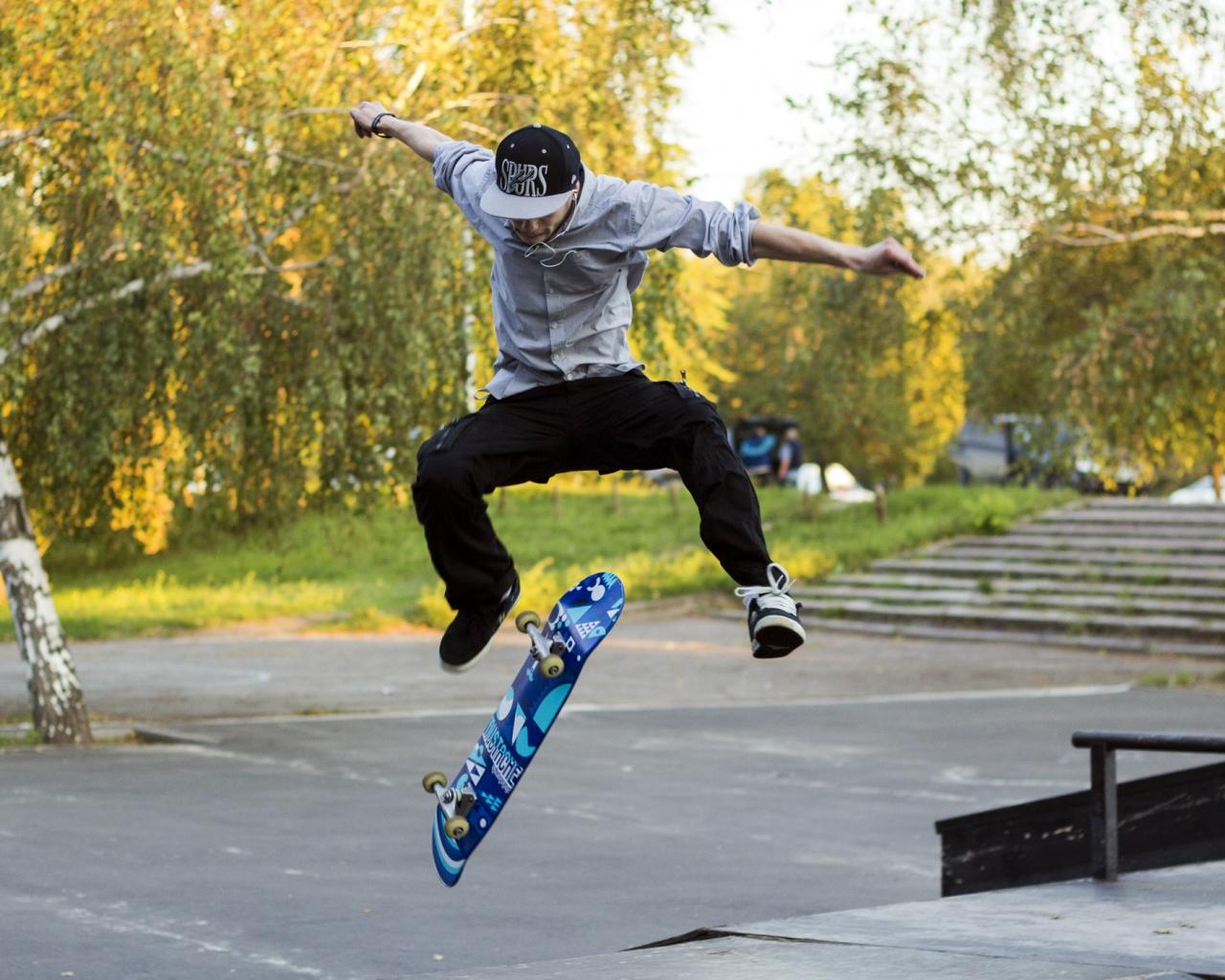 Trucos con skate - 1280x1024