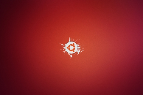 Ubuntu abstracto rojo - 480x320