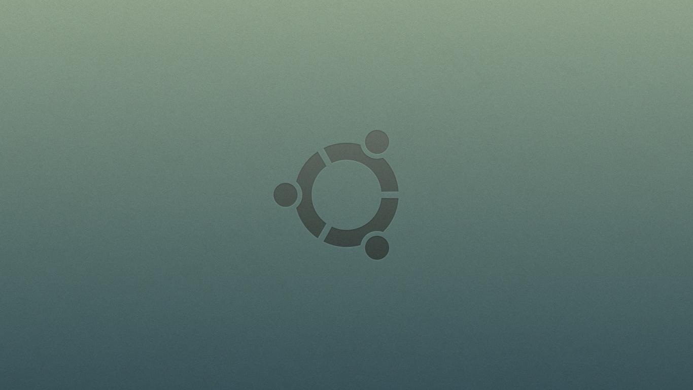 Ubuntu logo - 1366x768