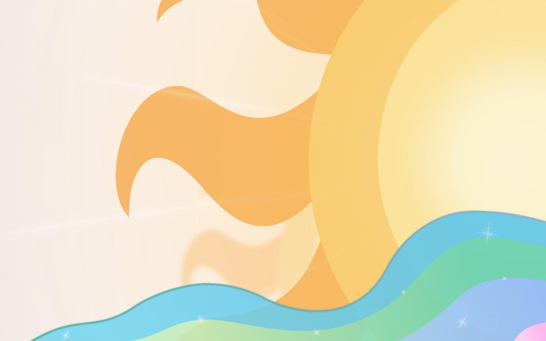 Un dibujo digital del sol - 1440x900