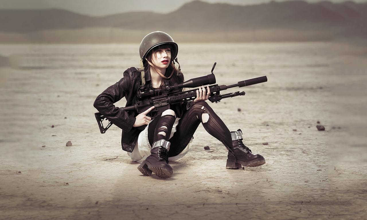 Una chica francotirador - 1280x768