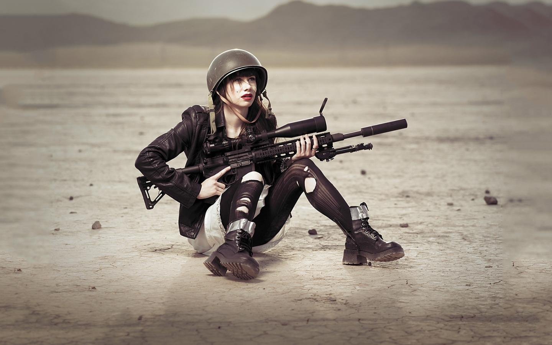 Una chica francotirador - 1440x900