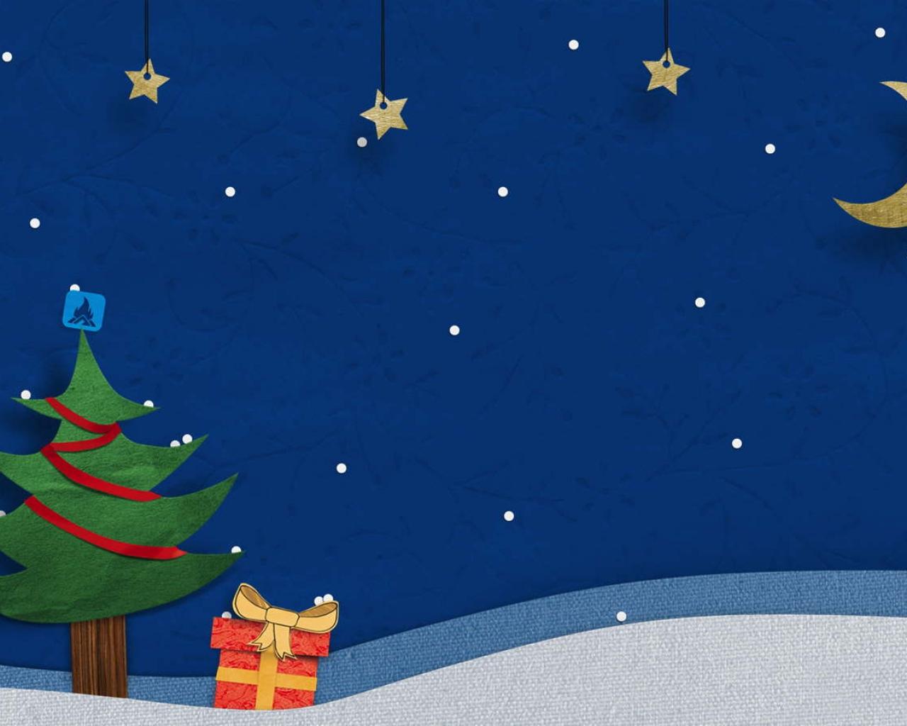 Una noche de navidad - 1280x1024