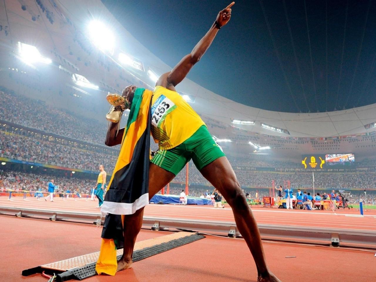 Usain Bolt en los juegos - 1280x960