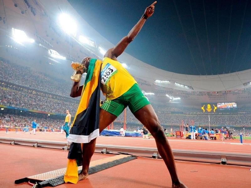 Usain Bolt en los juegos - 800x600