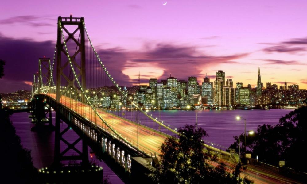 Vista nocturna de ciudad - 1000x600
