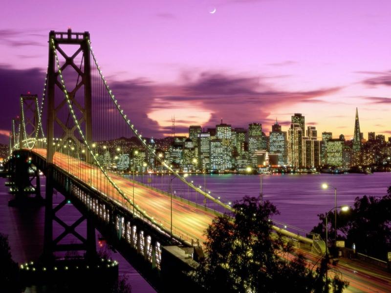 Vista nocturna de ciudad - 800x600