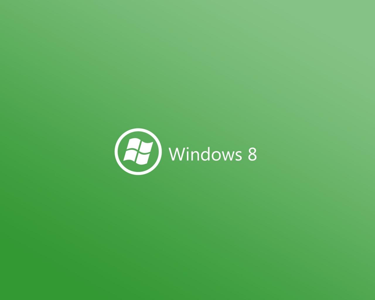 Windows 8 verde - 1280x1024