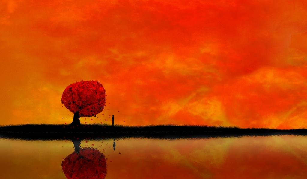 Atardecer digital paisaje - 1024x600