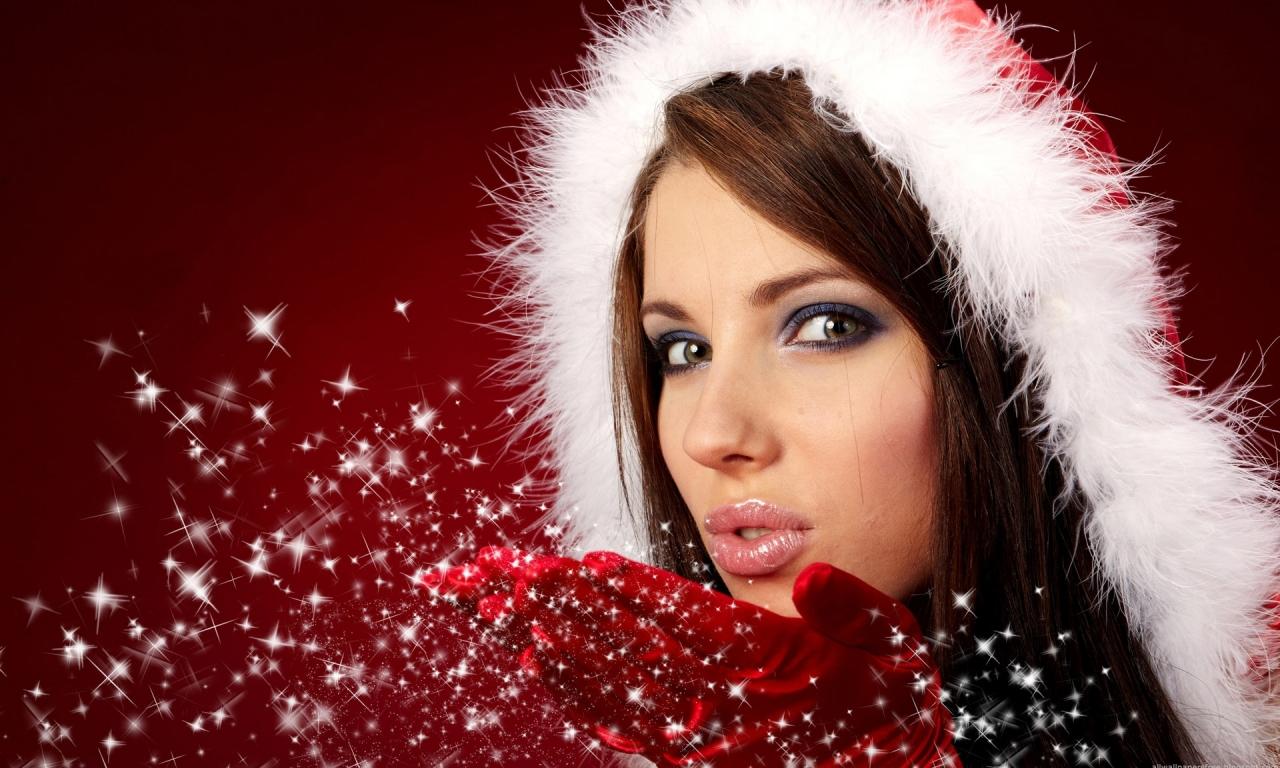 Bellas mujeres en navidad - 1280x768