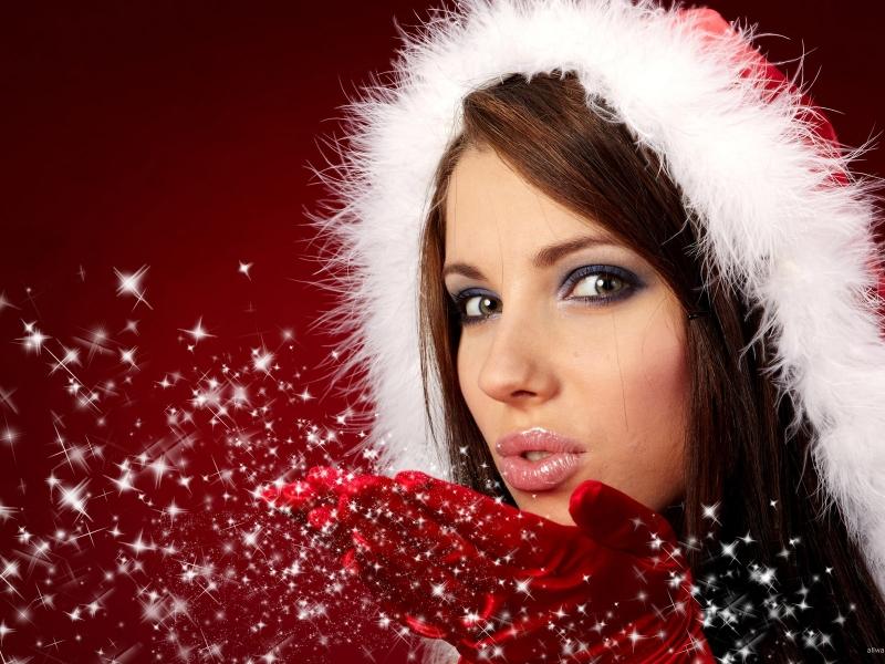 Bellas mujeres en navidad - 800x600
