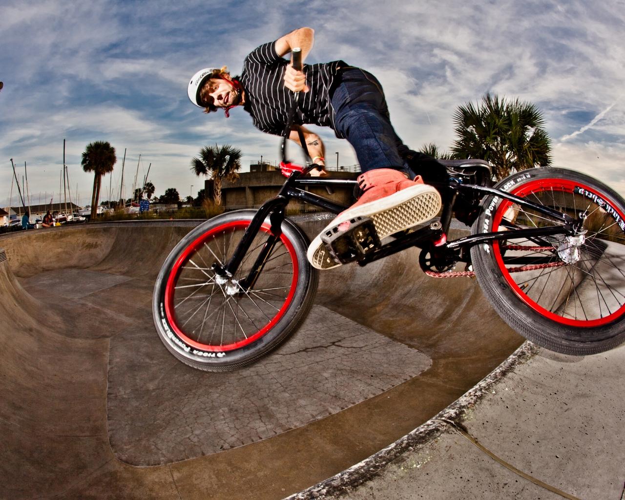 BMX en un Skatepark - 1280x1024