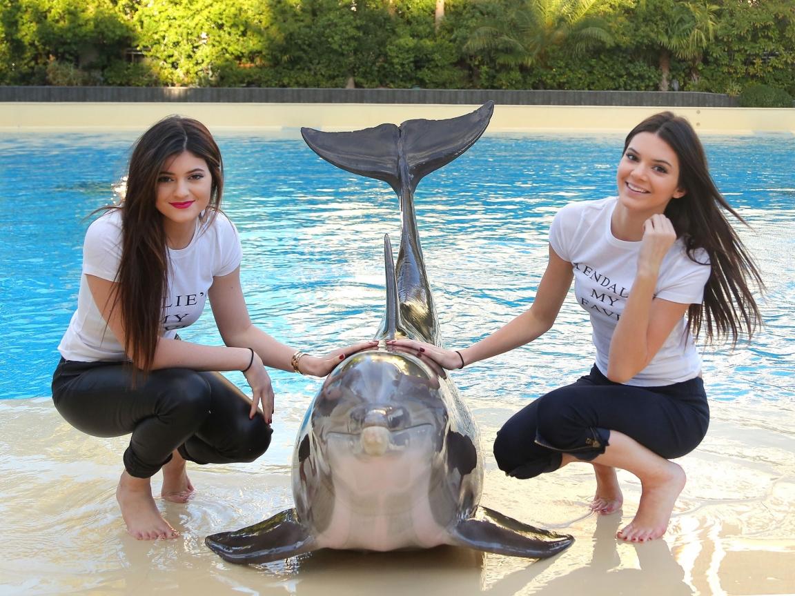 Chicas y un delfín - 1152x864
