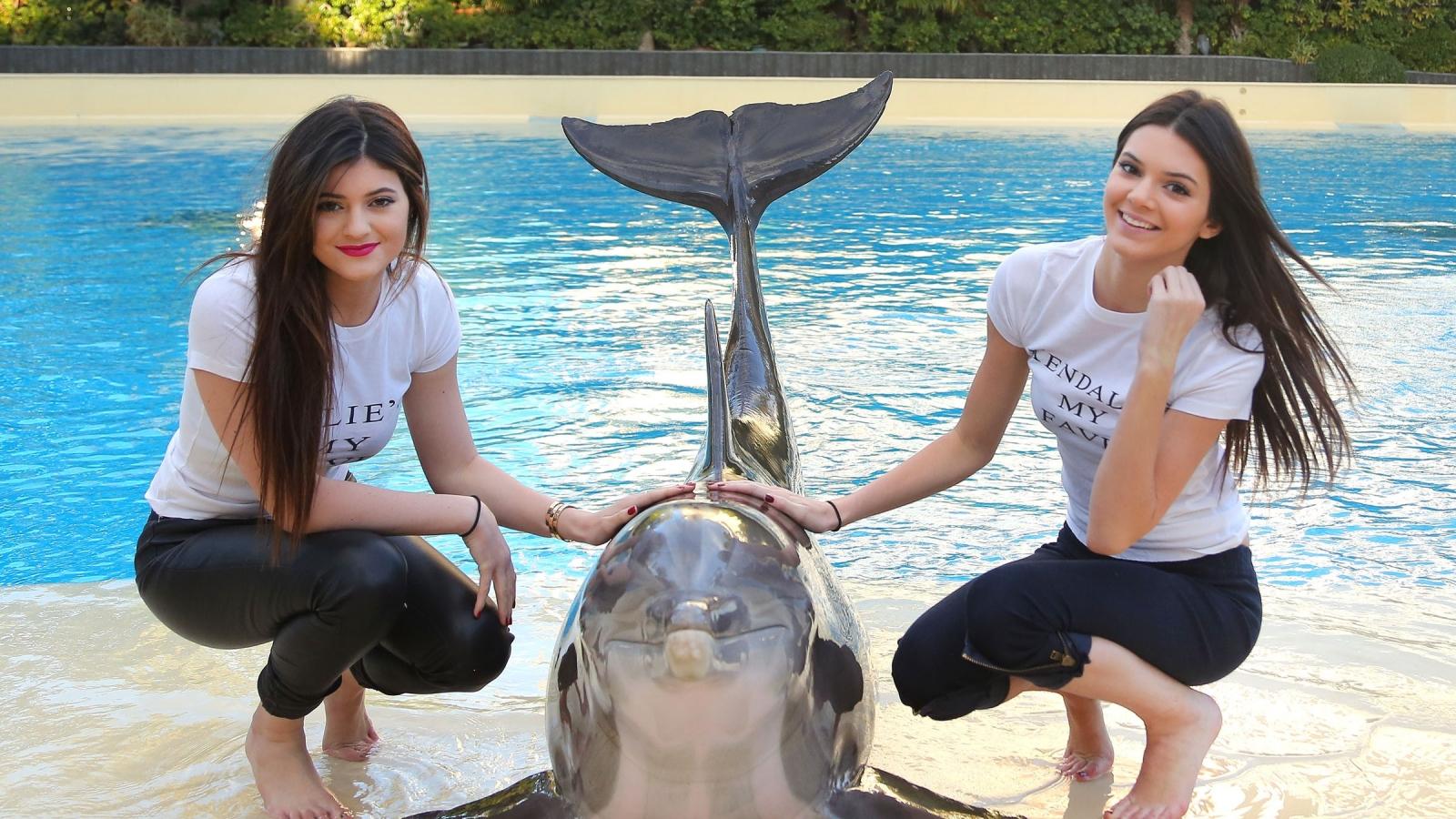 Chicas y un delfín - 1600x900