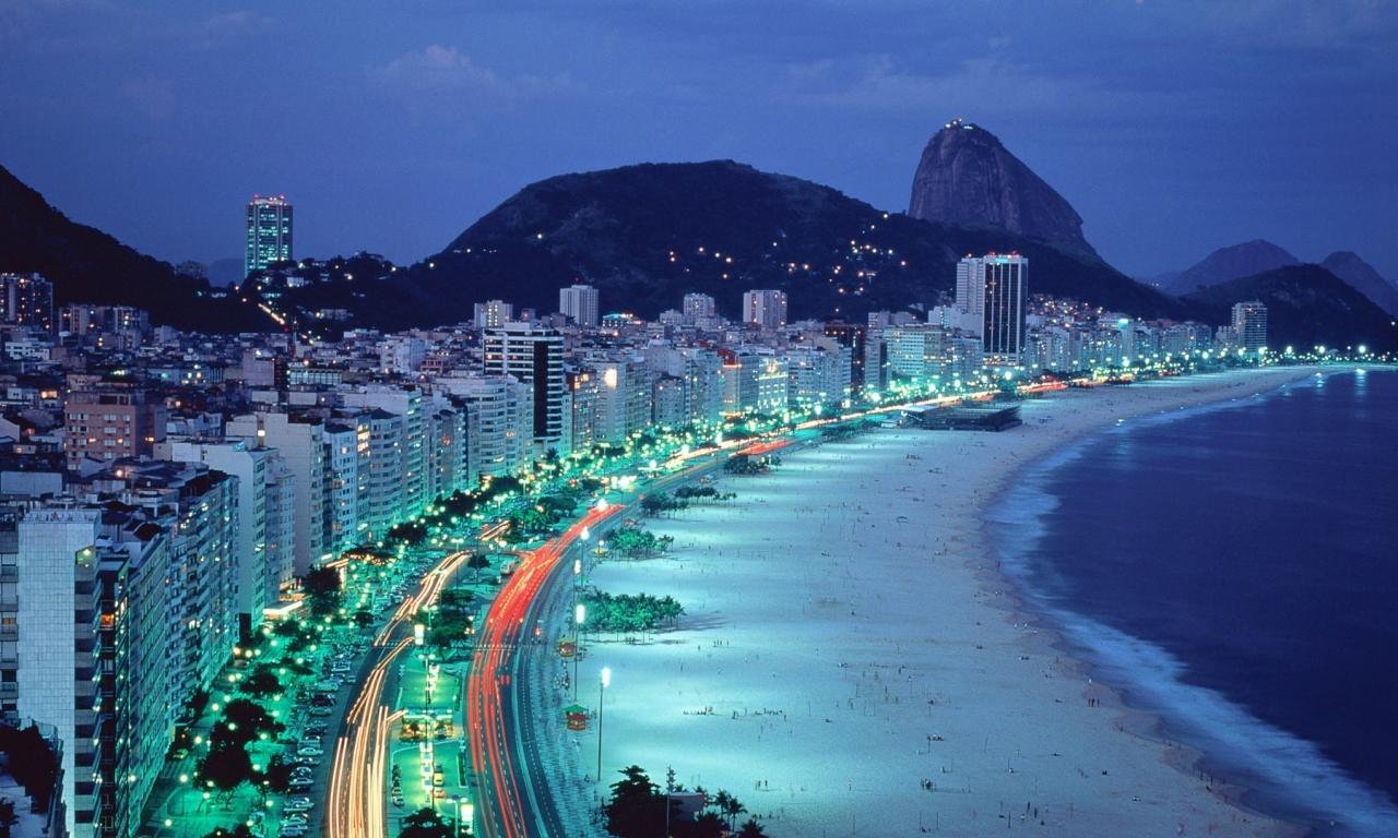 Copacabana Beach en Rio de Janeiro - 1280x768