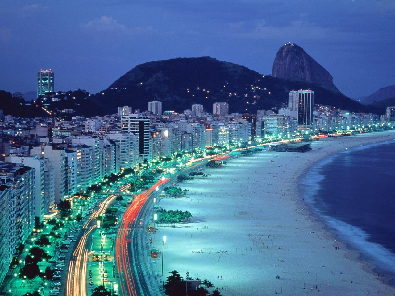 Copacabana Beach en Rio de Janeiro - 1280x960