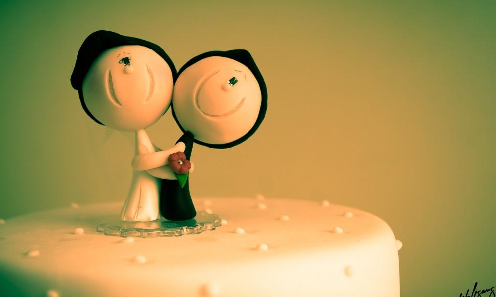 Decoración para torta de novios - 1000x600