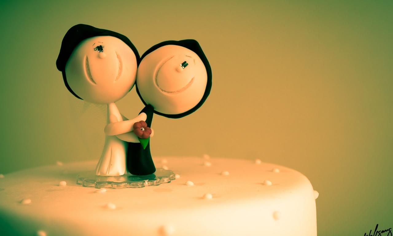 Decoración para torta de novios - 1280x768