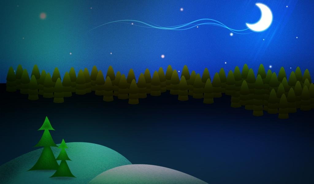 Dibujo de escena de navidad - 1024x600
