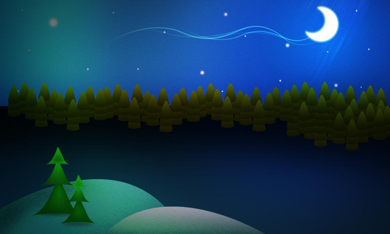 Dibujo de escena de navidad - 1280x768