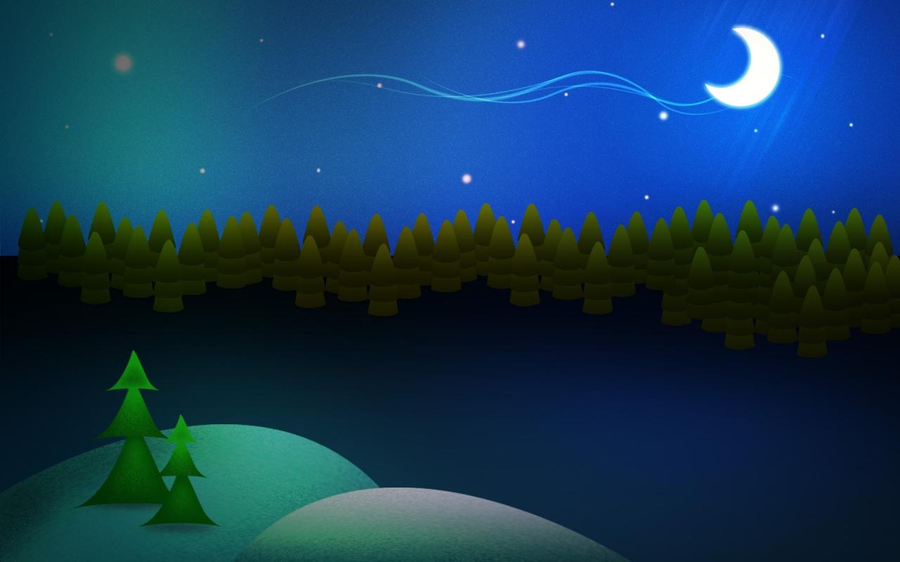 Dibujo de escena de navidad - 1280x800