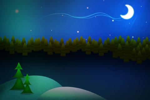 Dibujo de escena de navidad - 480x320
