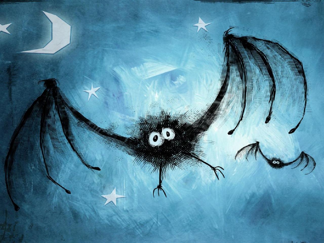 Dibujo de murcielagos - 1280x960