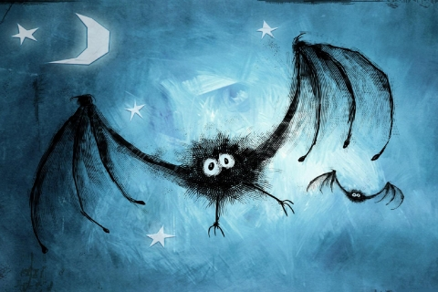 Dibujo de murcielagos - 480x320