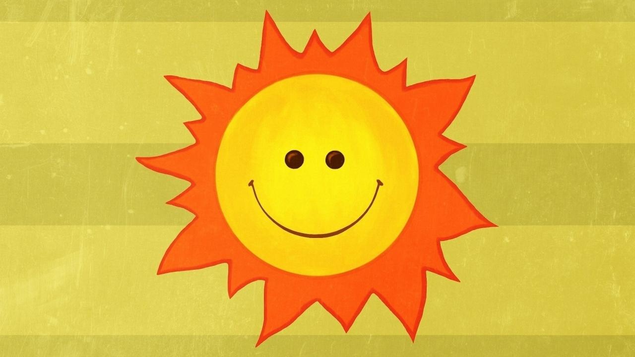 Dibujo del Sol feliz - 1280x720