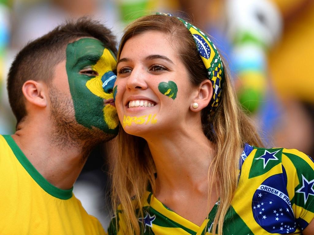 Hinchas de Brasil 2014 - 1024x768