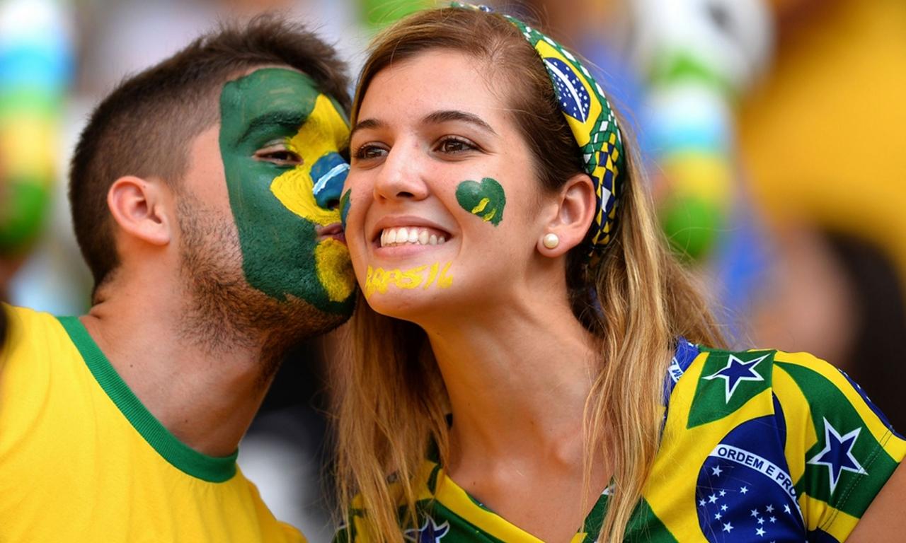 Hinchas de Brasil 2014 - 1280x768