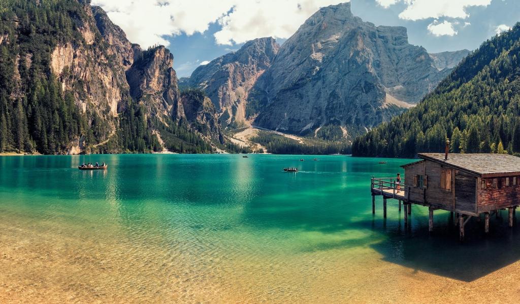 Lago Di Braies de Italia - 1024x600