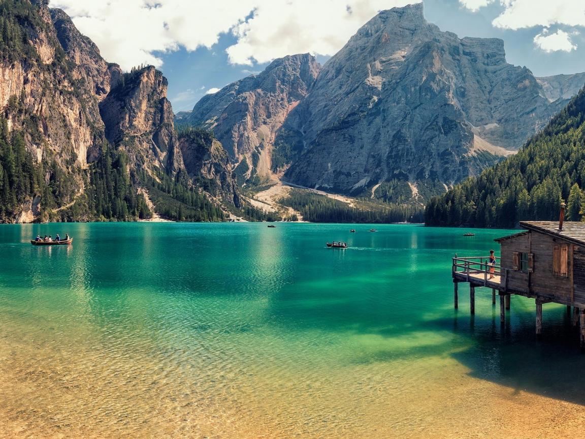 Lago Di Braies de Italia - 1152x864