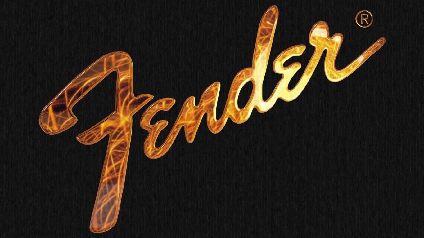 Logo de Fender en 3D - 1366x768