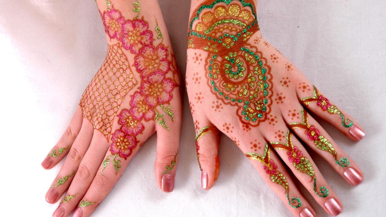Mehandi, decoración en manos - 1280x720